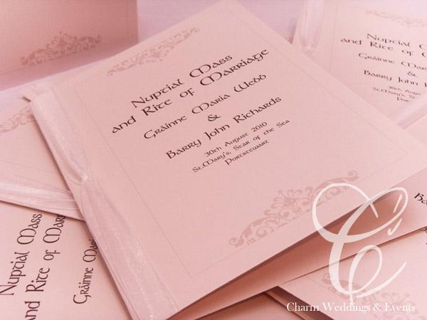catholic wedding mass booklet template - layout of mass booklet wedding stationery belfast northern